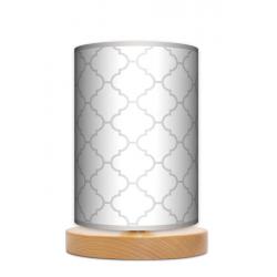Fotolampa Elegancja - lampa stojąca mała buk