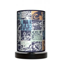Fotolampa Grunge - lampa stojąca mała wenge