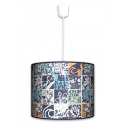 Fotolampa Grunge - lampa wisząca duża