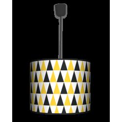 Fotolampa Black and yellow - lampa wisząca duża