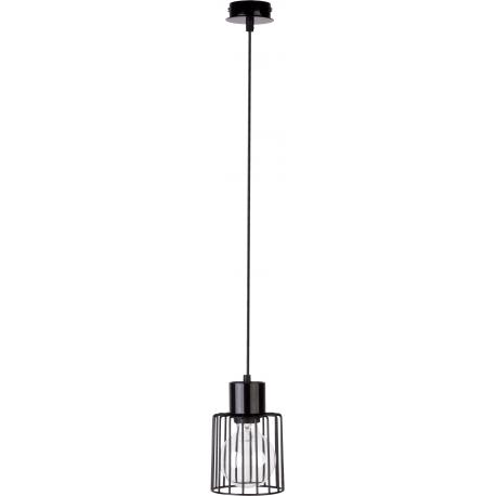Luto Kwadrat lampa wisząca 1 czarna