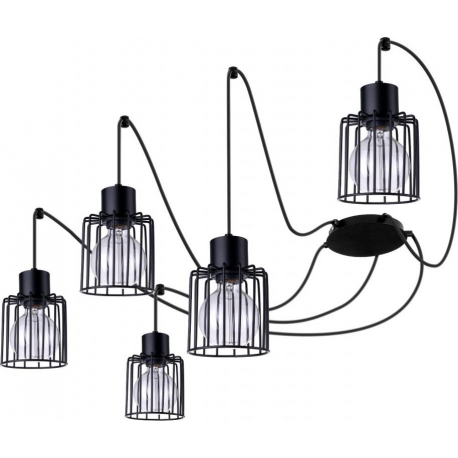 Luto Kwadrat lampa wisząca 5 czarna