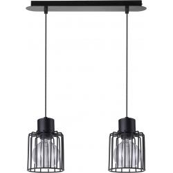 Luto Kwadrat lampa wisząca 2 czarna