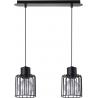 Luto Kwadrat lampa wisząca 2 czarna 31133 Sigma
