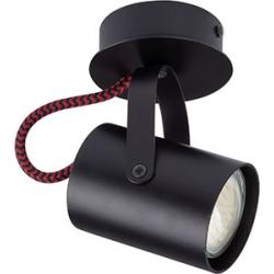 Kamera plafon czarno-czerwony